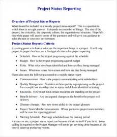 Project Report Samples Sample Project Status Report 8 Examples Amp Format
