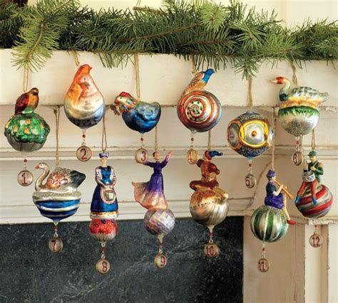 twelve days of ornaments set of 12 modern ornaments by pottery barn