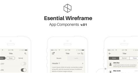 Mobile Ios Wireframe App Stencil V1 Ios Wireframe Template