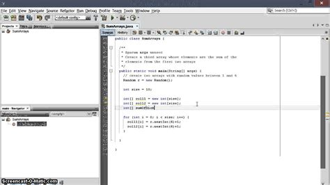 construct 2 array tutorial sum two arrays into a third array in java youtube