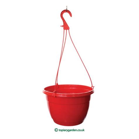 hanging pot red teku hanging pots baskets 27cm diameter plant pots