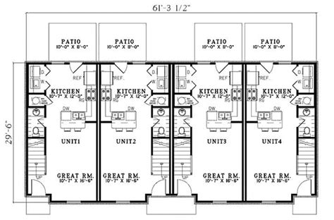 multifamily plans multi family plan 61292 at familyhomeplans com