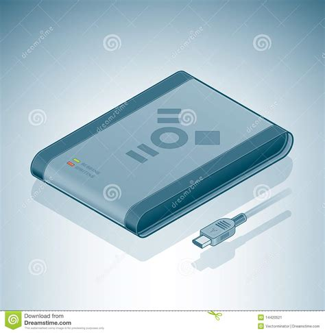 Hardisk Firewire portable disk drive firewire stock image image