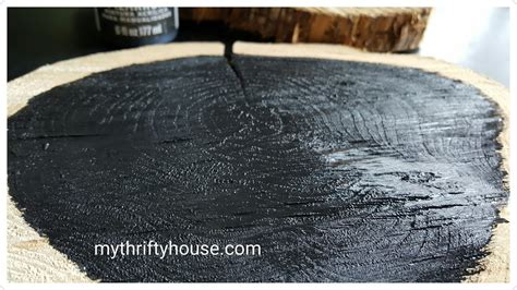 chalkboard paint wood slices rustic wood slice chalkboard ccbg 19 my thrifty house
