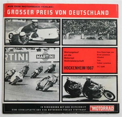 Motorrad Weltmeisterschaft 50ccm by Motorsport Schallplatte Grosser Preis Von Deutschland