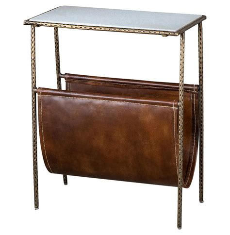 magazine end table with l strauss industrial loft magazine holder side end table
