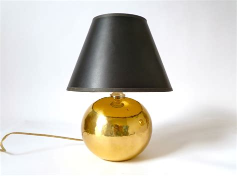 Silver Base Table Lamps by Small Vintage Hammered Brass Table Lamp Orb Hollywood