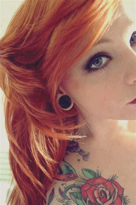 redhead with tattoos tattooed best