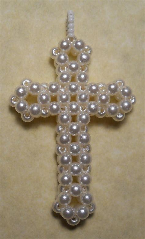 beaded cross by inthebackground on deviantart