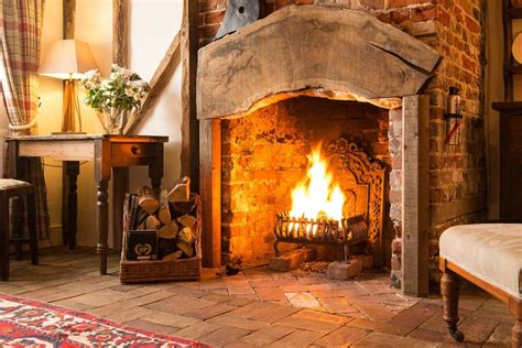 Open Log Fireplace by Spadgers