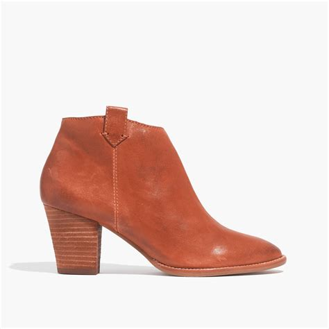 madewell billie boot madewell the billie boot in orange saddle lyst