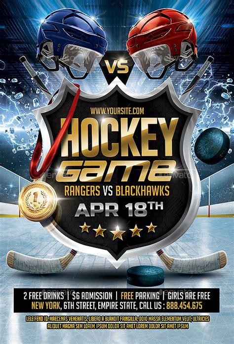 hockey game flyer  smashingflyers graphicriver
