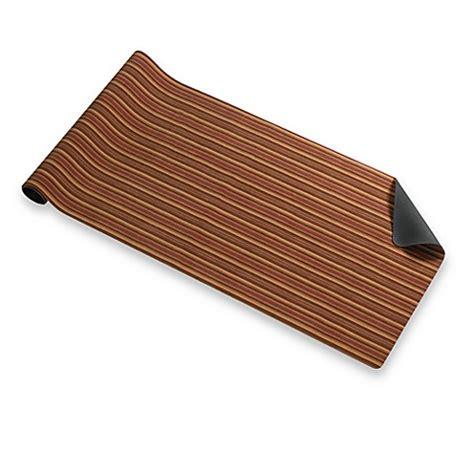 Bungalow Flooring Microfibres Kitchen Rug Bungalow Flooring Hansen Stripe 23 Inch X 60 Inch Microfibre Neoprene Runner Bed Bath Beyond