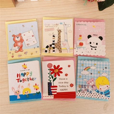 card supplies uk free delivery free shipping creative children s small greeting card with