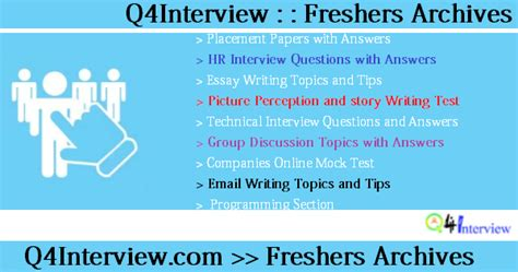Discussion Topics For Mba Freshers With Answers by Freshers Questions Placement Paper