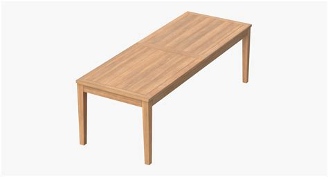 Rectangle Patio Table by Patio Dining Table Rectangle C4d