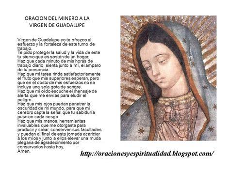 imagenes y oraciones ala virgen de guadalupe oraciones y espiritualidad oraci 243 n del minero a la virgen