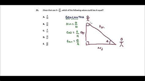 act math section practice act math practice question 21 trig fundamentals youtube