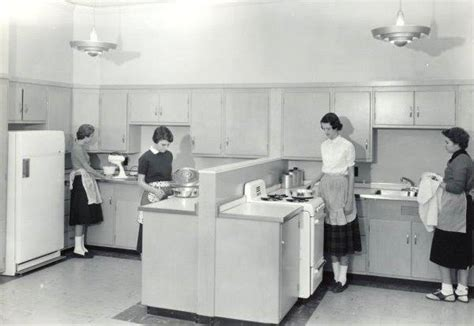 home economics class 60s