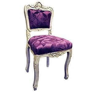 purple chairs for bedroom antique finish silver frame purple leaf fabric louis bedroom chair amazon co uk kitchen home