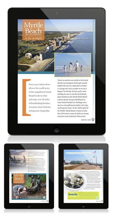 ipad layout design guidelines ipad design sunny day guide on behance