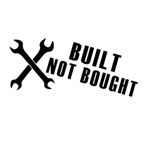 Built Not Bought jdm built not bought wrenches tools vinyl sticker car decal