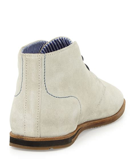 ben sherman abrdeen suede chukka boot in white for lyst