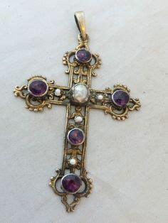 Pin Bross Salib Silver antique austro hungarian coral silver gilt coral cross pendant chain pendants cross
