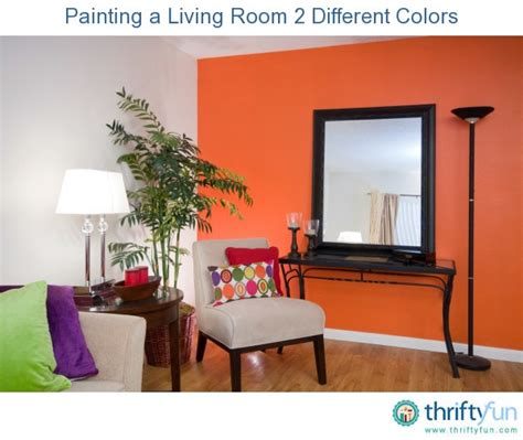Painting One Wall A Different Color In A Bedroom by Painting A Living Room 2 Different Colors Thriftyfun