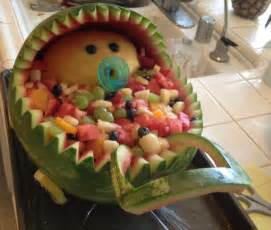 baby shower fruit salad baby carriage projects