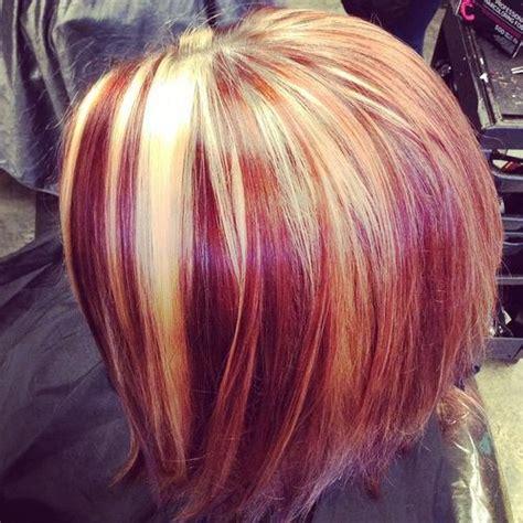 hair color ideas  chunky highlights