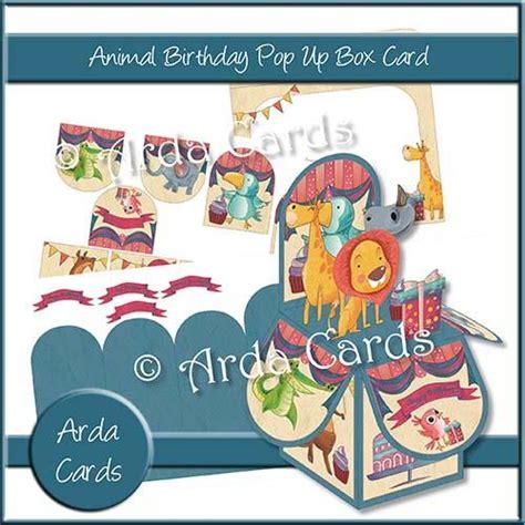 printable animal pop up cards animal birthday pop up box card the printable craft shop