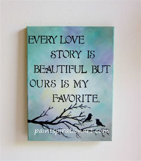 every love story is beautiful love birds art original painting