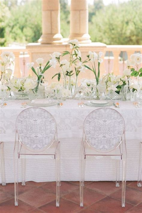 wedding inspiration ghost chairs