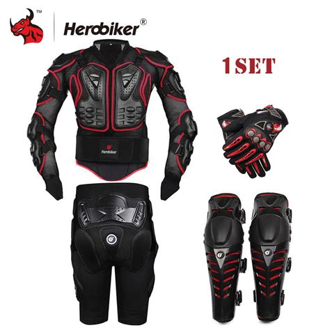 short moto herobiker black motorcycle racing body armor protective