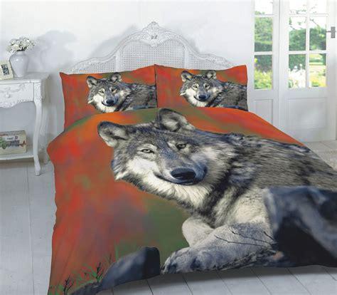 wolf bedding animal wolf 3d effect duvet cover bedding seting set