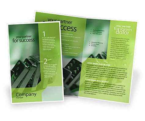 single page brochure templates 20 single fold brochure templates