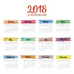 Calendar 2018 Indonesia Vector Calendar 2018 Multicolor Design Vector Free