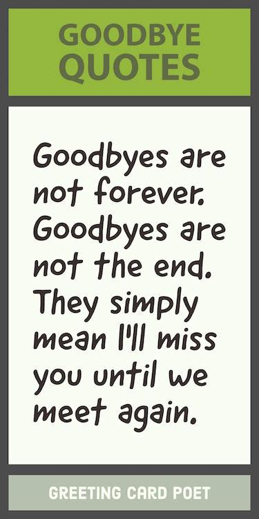 goodbye quotes  sayings greeting card poet