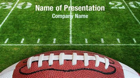 Football Lace Powerpoint Templates Football Lace Powerpoint Backgrounds Templates For Powerpoint Football Template