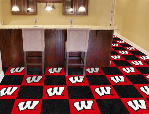 wisconsia tile wisconsin badgers carpet tiles