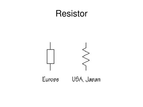 resistor symbol for powerpoint ppt electric symbols powerpoint presentation id 2734019