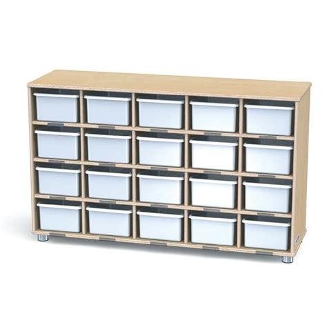 truemodern twenty cubbie shelf with white trays 1716jc