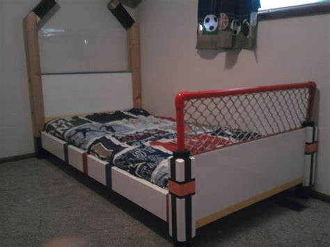 hockey bed hockey bed by bman15 lumberjocks com woodworking