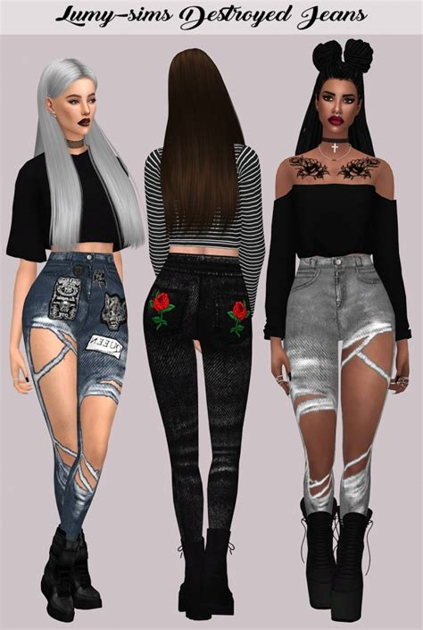 sims 4 clothing for females sims 4 updates destroyed jeans at lumy sims 187 sims 4 updates