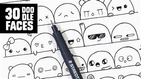 youtube membuat doodle 30 cute faces expressions to doodle youtube