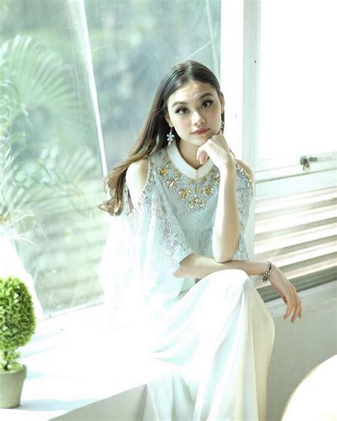 Dress Eliza Putih potret cantik gege elisa bintang ftv kembaran tzuyu