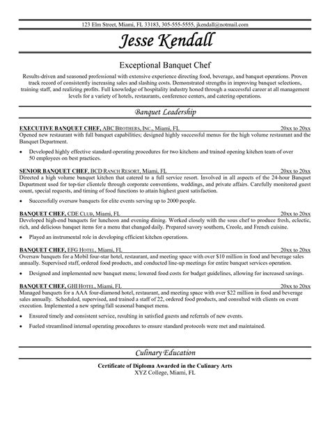 Chef Career Objective Chef Resume Objective Examples Perfect Resume 2017