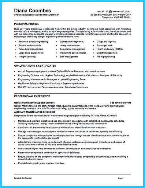 Aircraft Mechanic Resume by Cool Convincing Design And Layout For Aircraft Mechanic