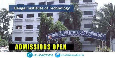 Mba Colleges In Kolkata With Fee Structure by Bengal Institute Of Technology Kolkata Fees Structure 2018